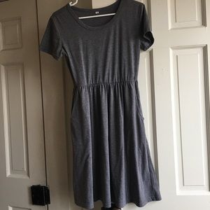 Grey Blue Midi Dress